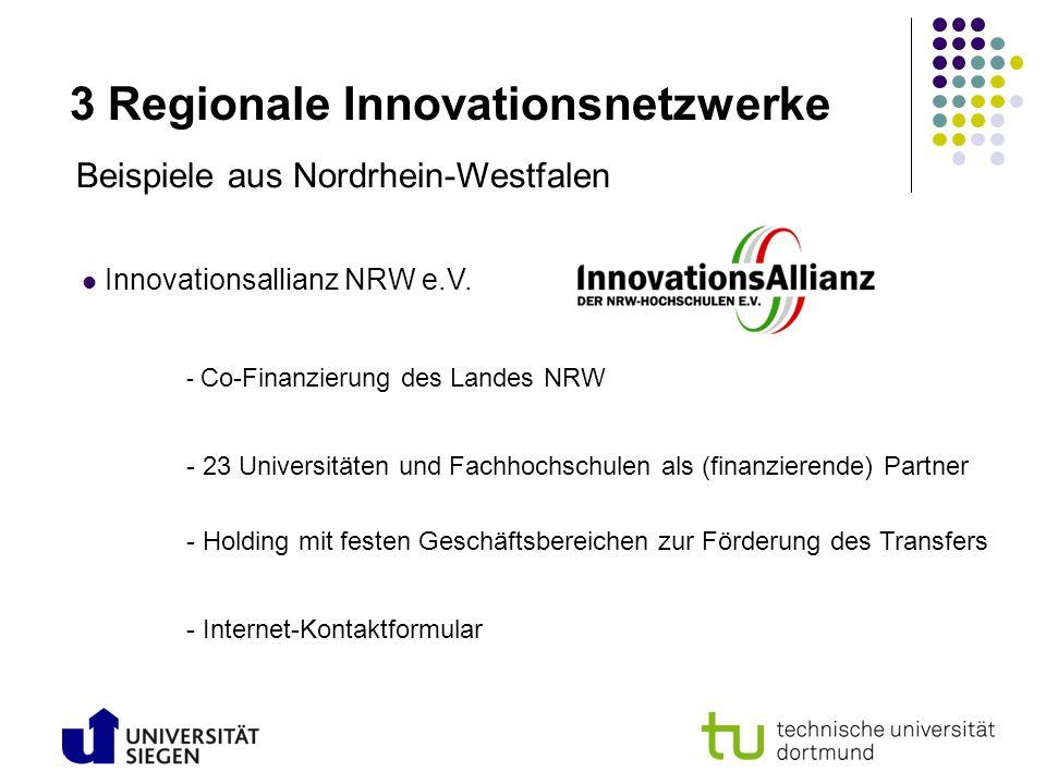 3 Regionale Innovationsnetzwerke