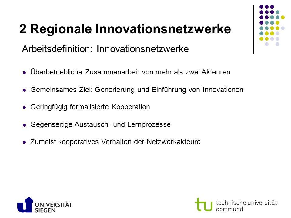 2 Regionale Innovationsnetzwerke