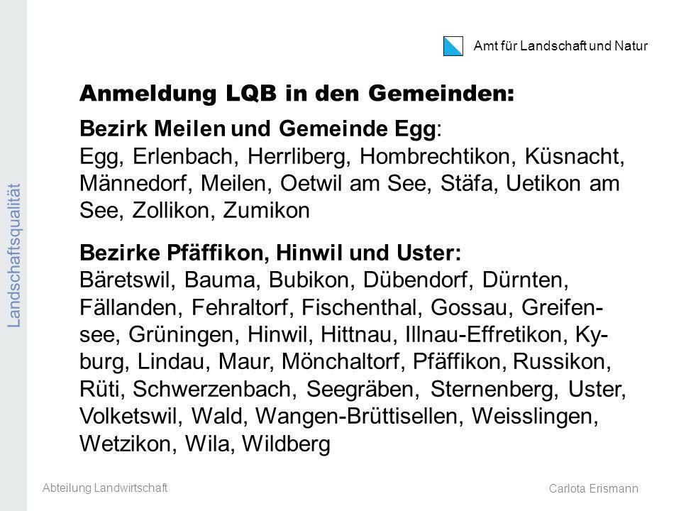 Anmeldung LQB in den Gemeinden: