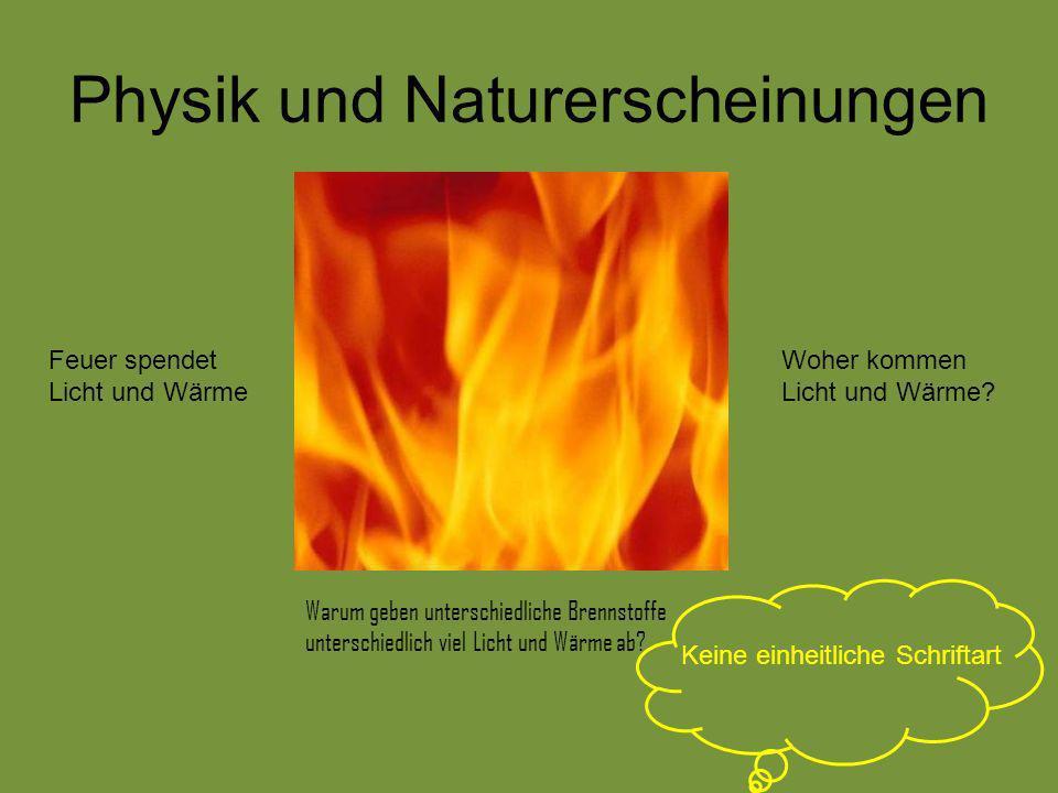 Physik und Naturerscheinungen