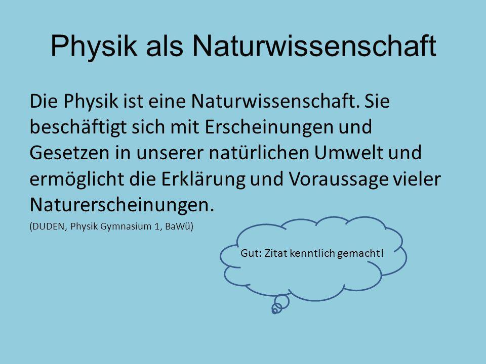 Physik als Naturwissenschaft