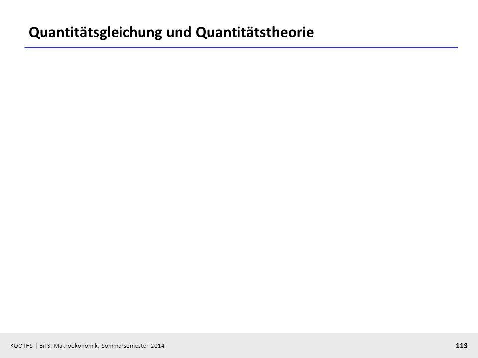 Quantitätsgleichung und Quantitätstheorie