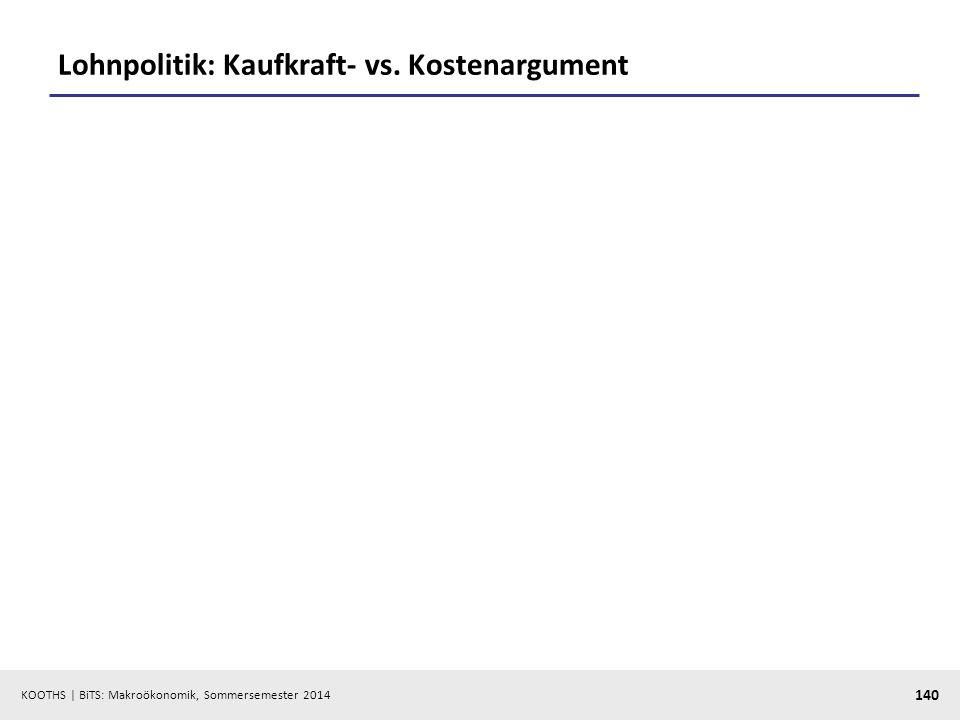 Lohnpolitik: Kaufkraft- vs. Kostenargument