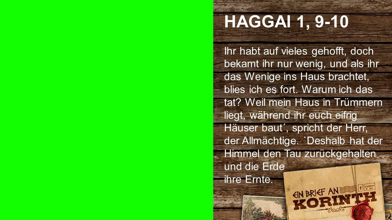Haggai 1, 9-10 1 HAGGAI 1, 9-10.