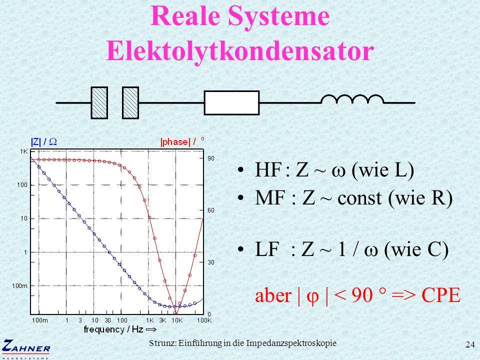 Reale Systeme Elektolytkondensator