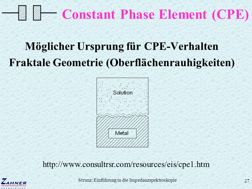Constant Phase Element (CPE)