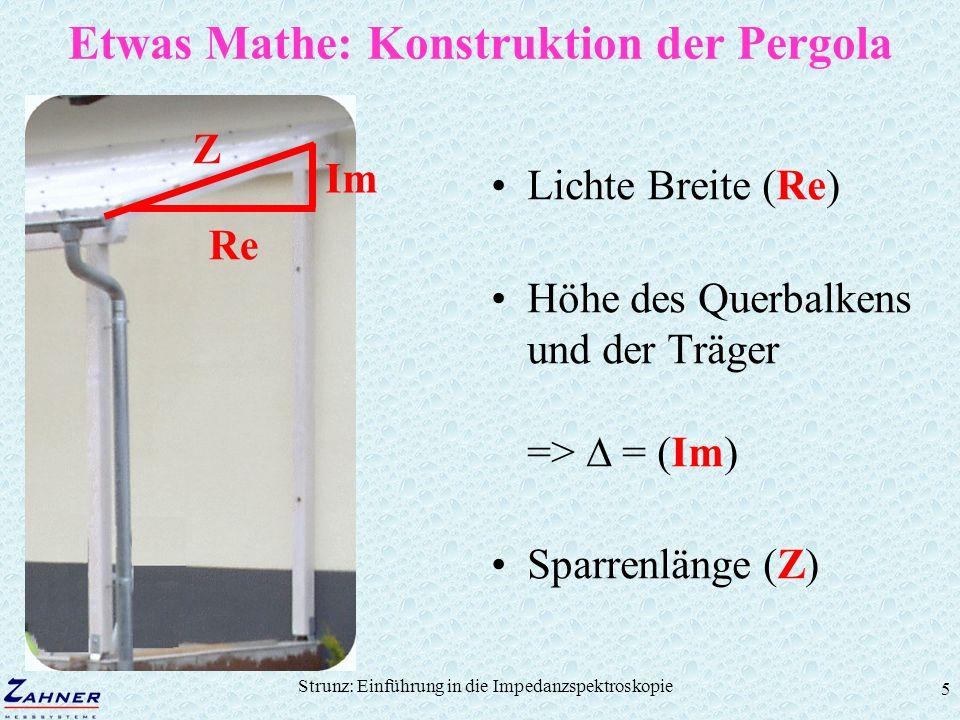 Etwas Mathe: Konstruktion der Pergola