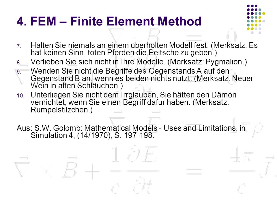 4. FEM – Finite Element Method