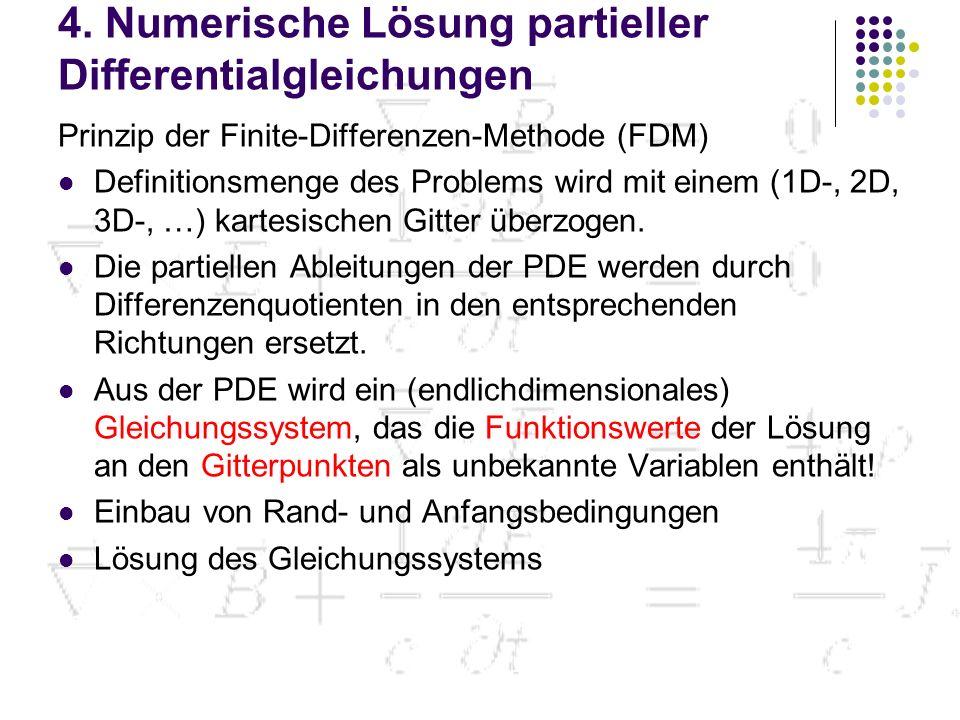 4. Numerische Lösung partieller Differentialgleichungen