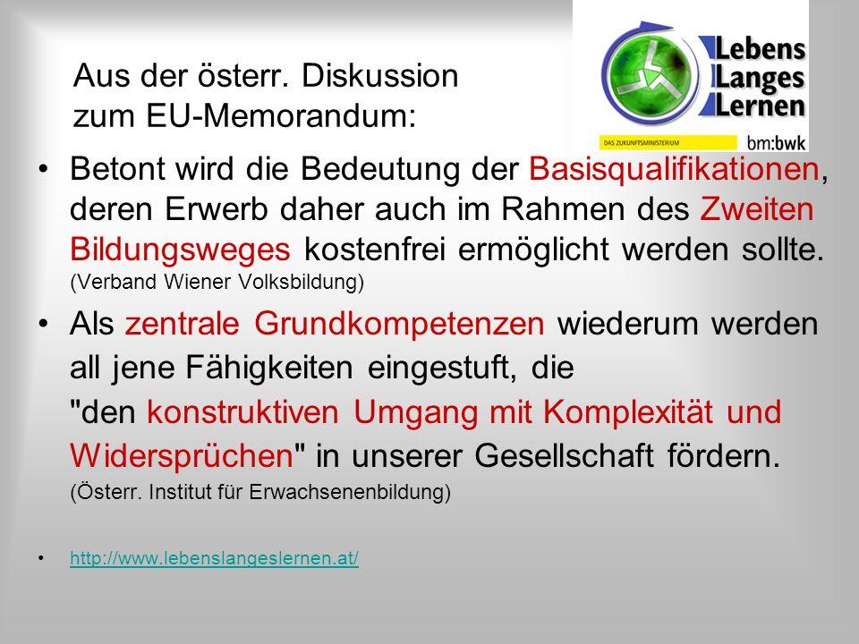 Aus der österr. Diskussion zum EU-Memorandum: