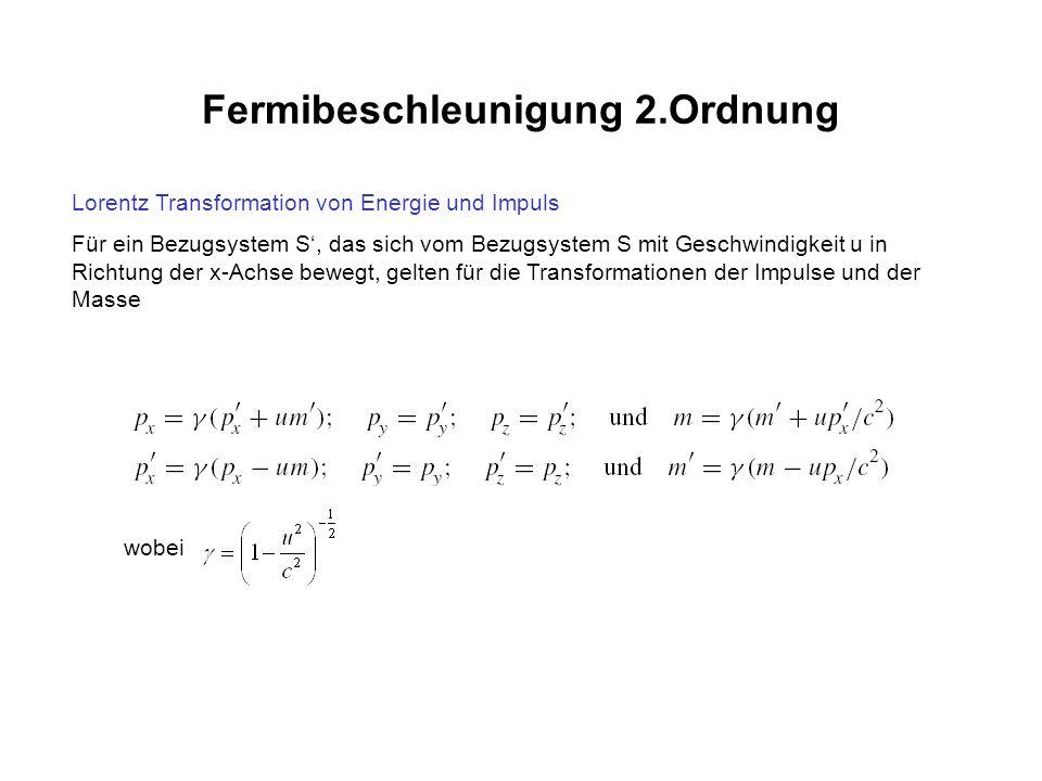 Fermibeschleunigung 2.Ordnung