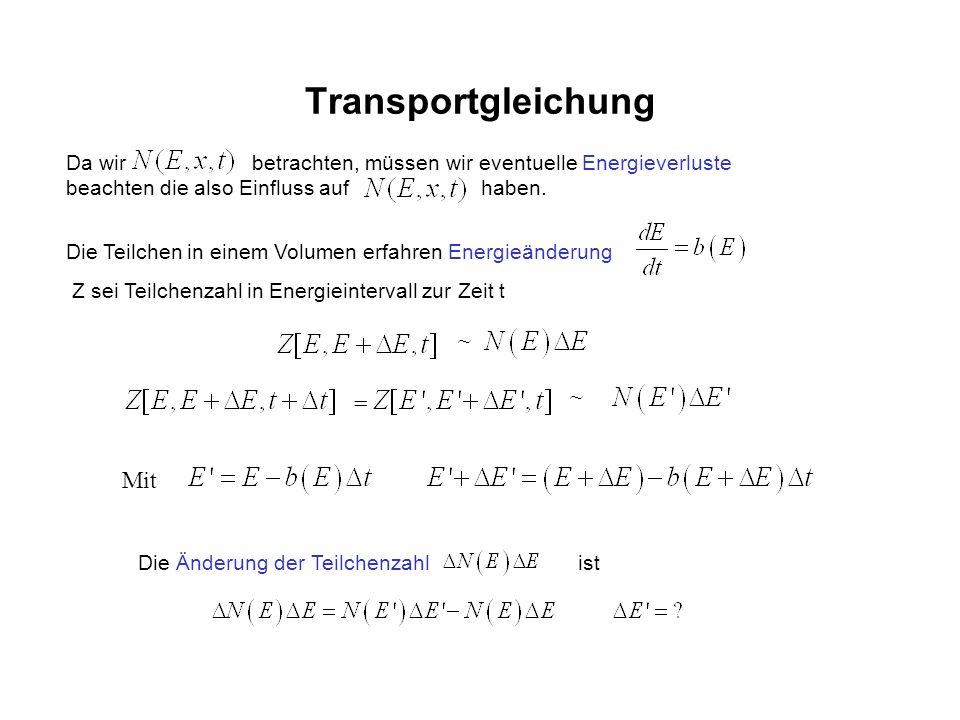 Transportgleichung ~ ~ = Mit