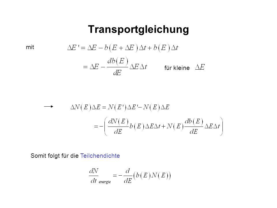 Transportgleichung mit für kleine Somit folgt für die Teilchendichte