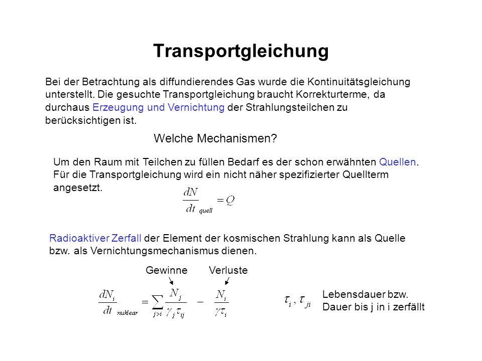 Transportgleichung Welche Mechanismen