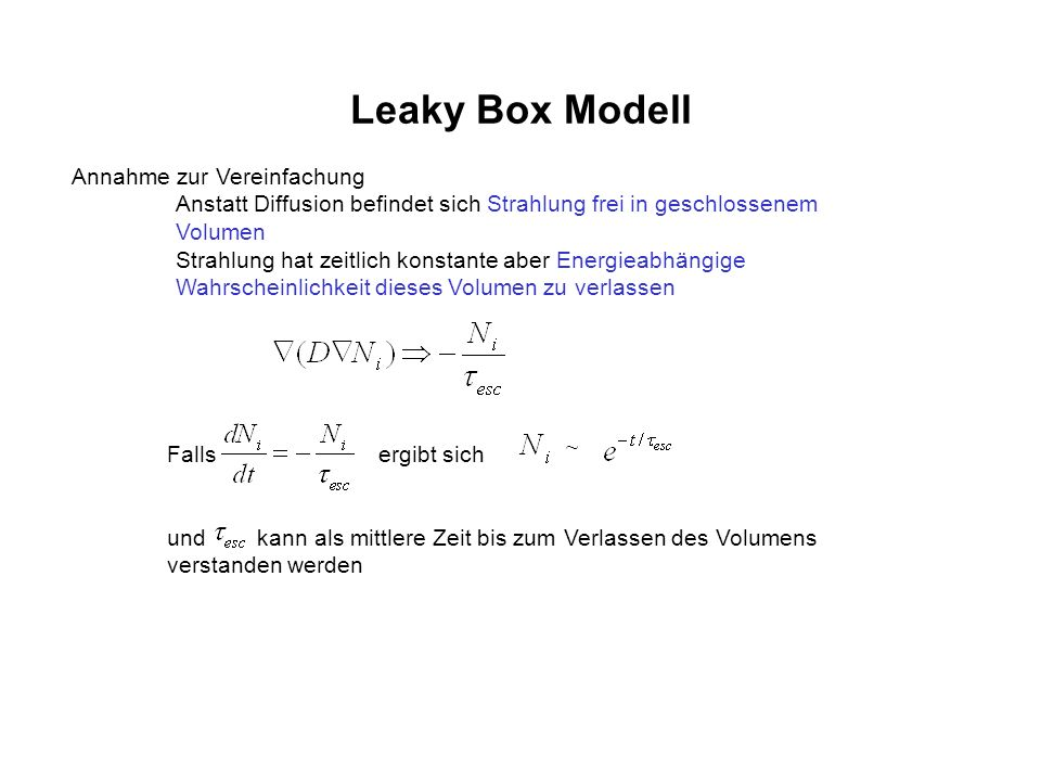 Leaky Box Modell