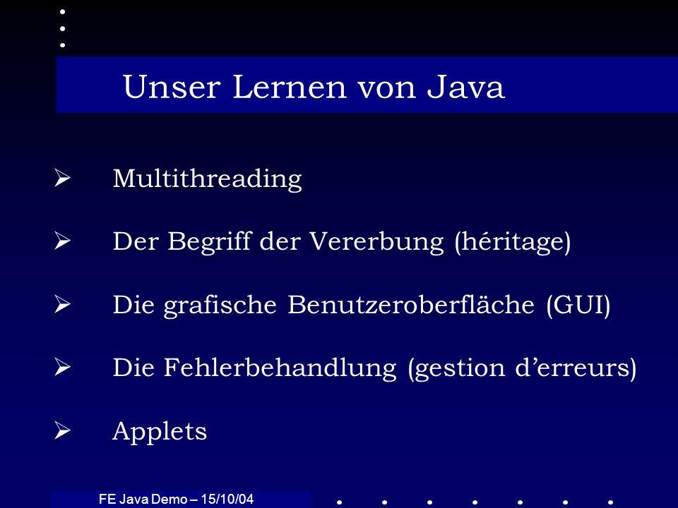 Unser Lernen von Java Multithreading