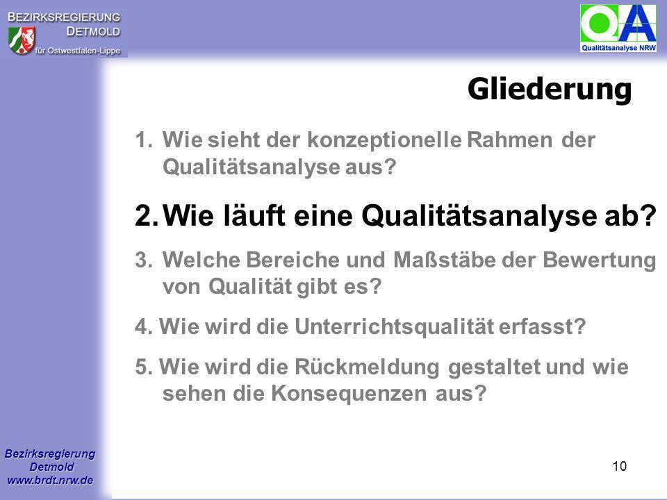 Wie läuft eine Qualitätsanalyse ab