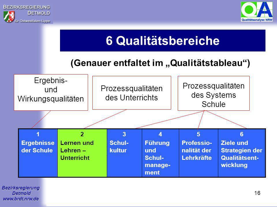 """(Genauer entfaltet im """"Qualitätstableau )"""