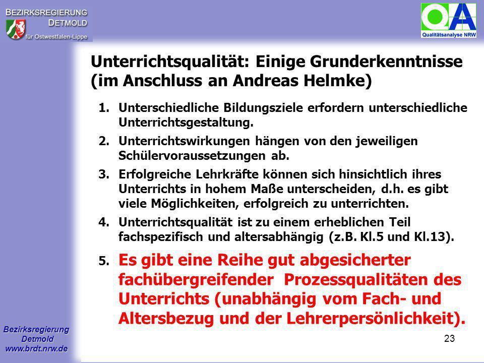 Unterrichtsqualität: Einige Grunderkenntnisse (im Anschluss an Andreas Helmke)