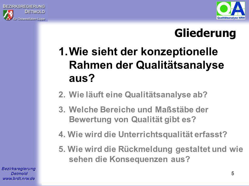 Wie sieht der konzeptionelle Rahmen der Qualitätsanalyse aus