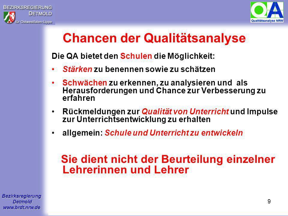 Chancen der Qualitätsanalyse