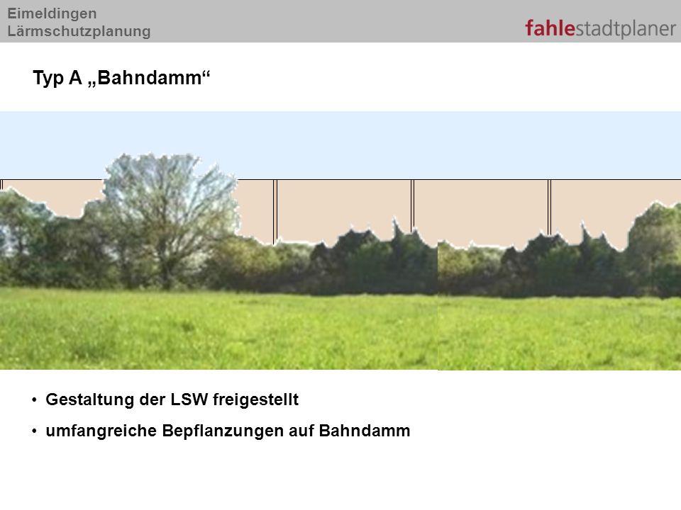 """Typ A """"Bahndamm Gestaltung der LSW freigestellt"""