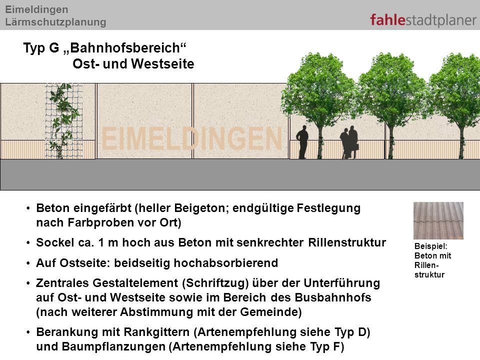 """EIMELDINGEN Typ G """"Bahnhofsbereich Ost- und Westseite"""