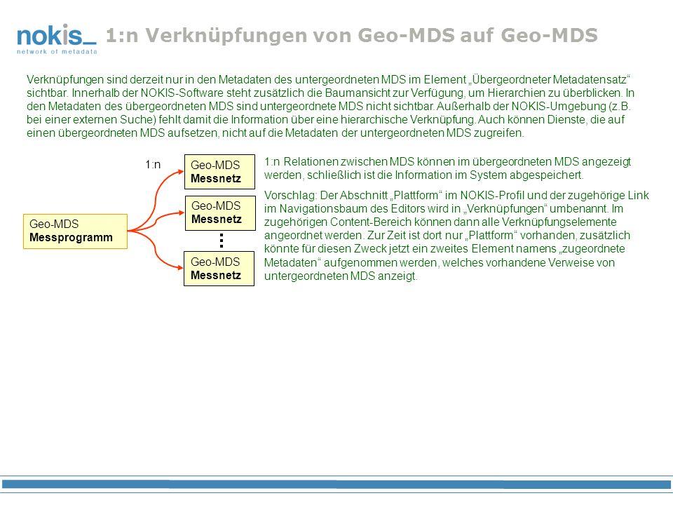 1:n Verknüpfungen von Geo-MDS auf Geo-MDS