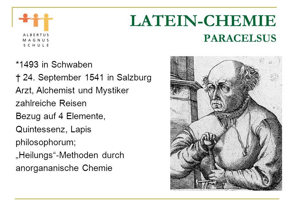 LATEIN-CHEMIE PARACELSUS