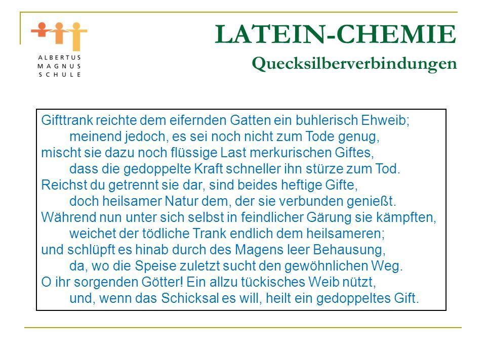 LATEIN-CHEMIE Quecksilberverbindungen