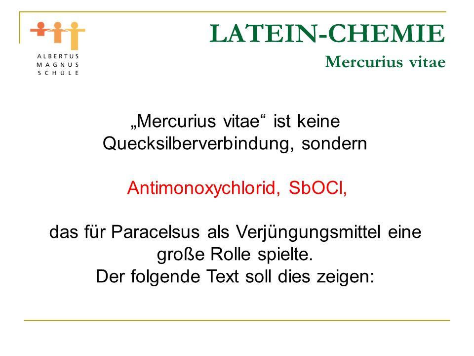 LATEIN-CHEMIE Mercurius vitae