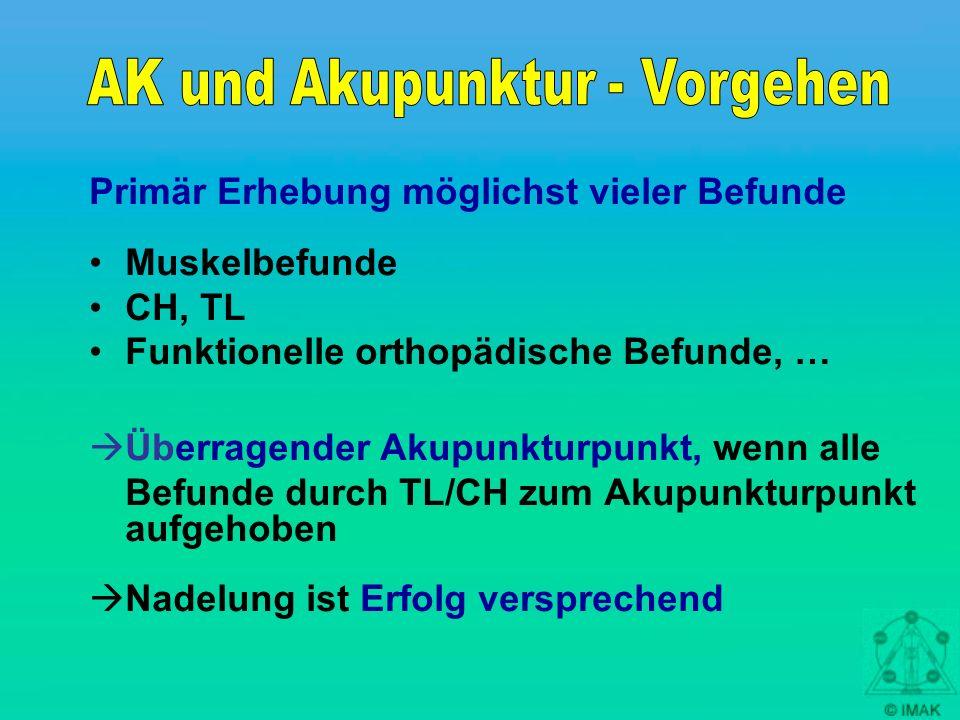 AK und Akupunktur - Vorgehen