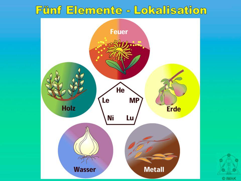 Fünf Elemente - Lokalisation
