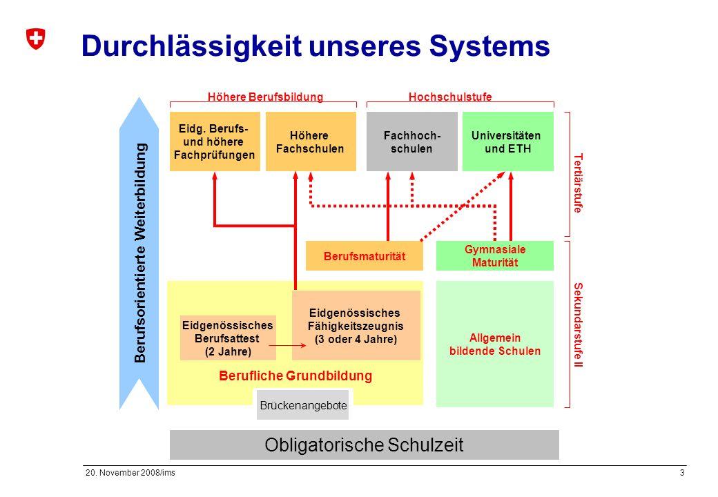 Durchlässigkeit unseres Systems