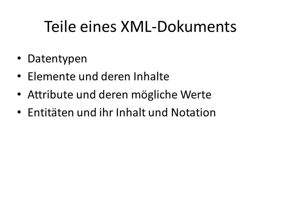 Teile eines XML-Dokuments