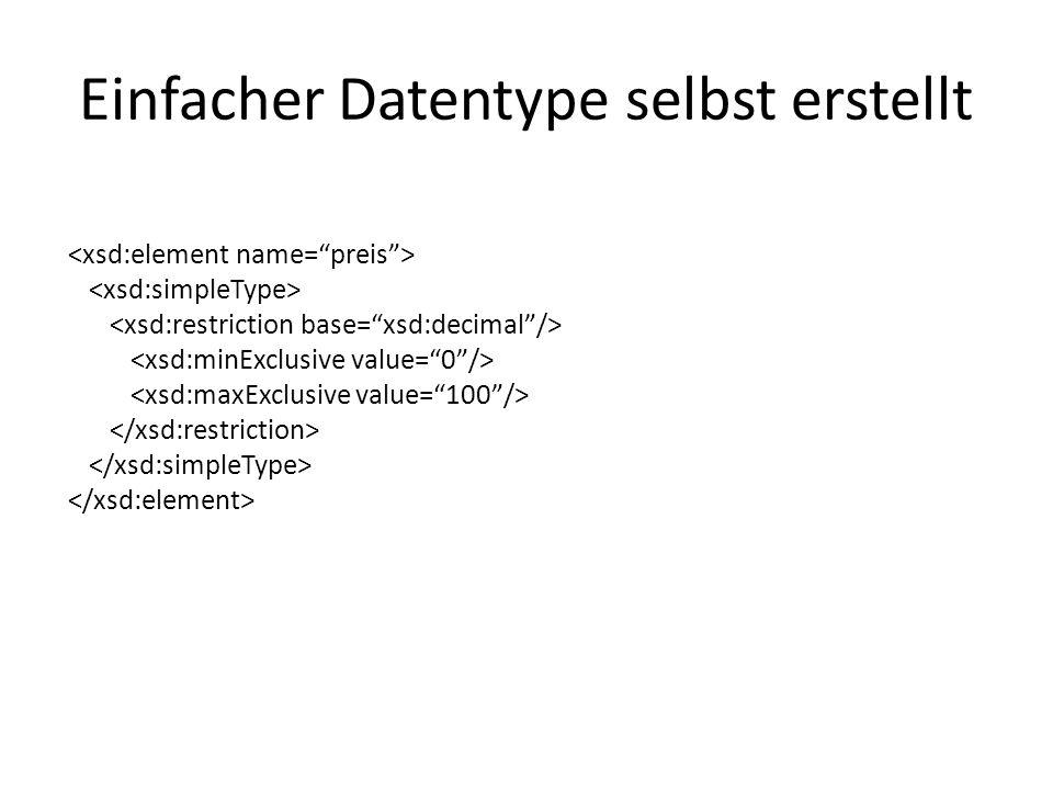 Einfacher Datentype selbst erstellt