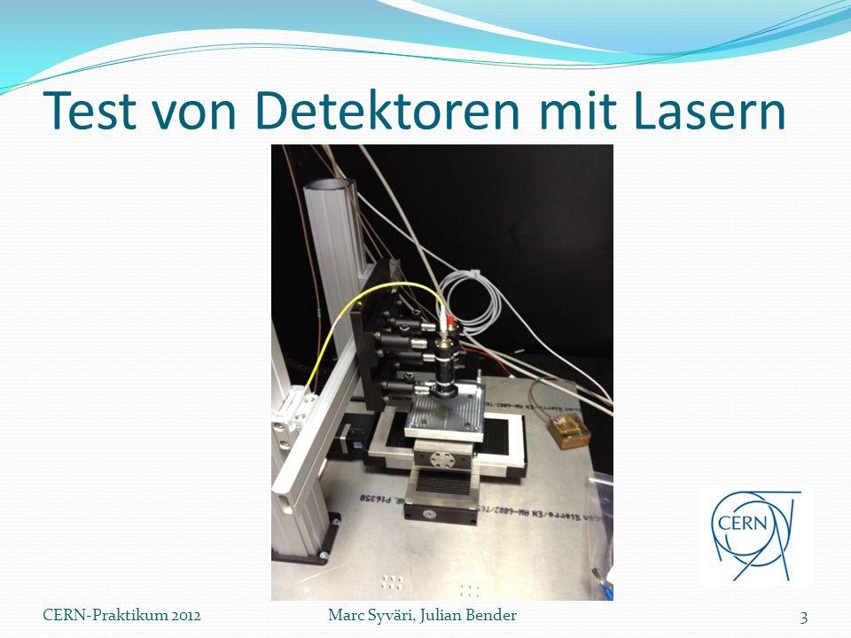 Test von Detektoren mit Lasern