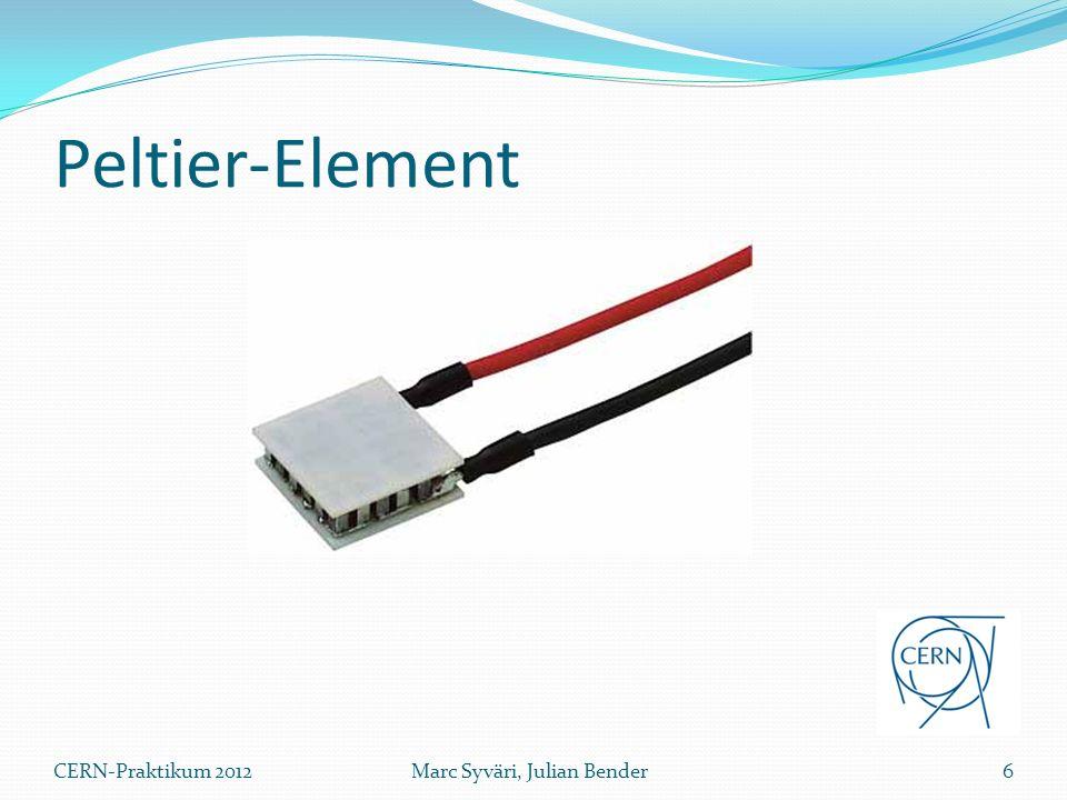 Peltier-Element CERN-Praktikum 2012 Marc Syväri, Julian Bender