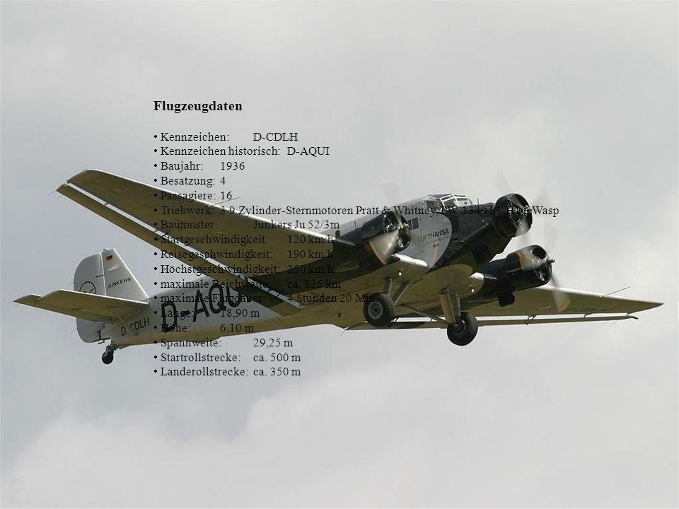 Flugzeugdaten • Kennzeichen: D-CDLH • Kennzeichen historisch: D-AQUI