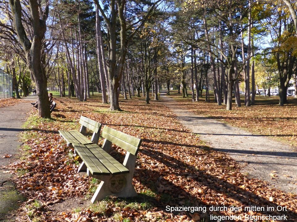 Spaziergang durch den mitten im Ort liegenden Begrischpark