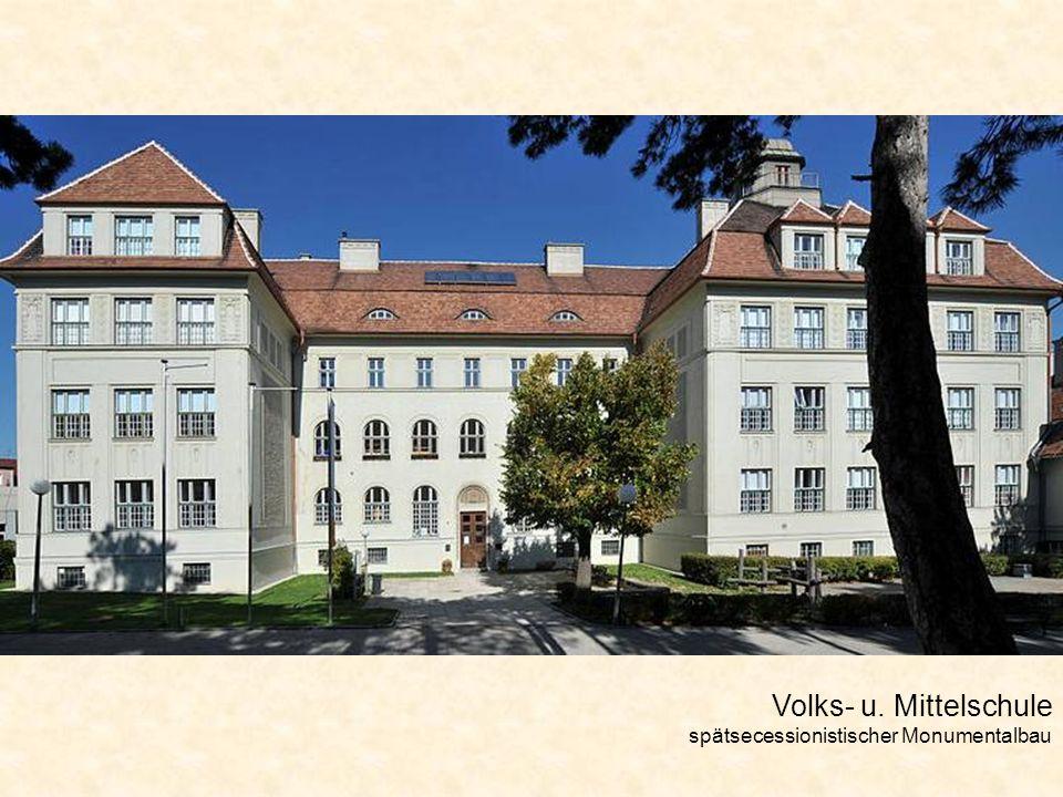 Volks- u. Mittelschule spätsecessionistischer Monumentalbau