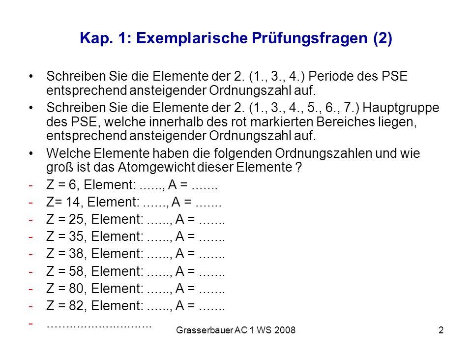 Kap. 1: Exemplarische Prüfungsfragen (2)