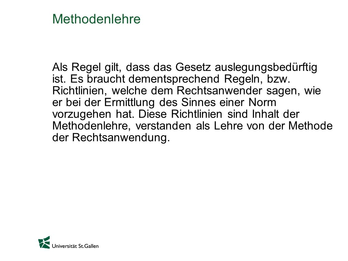 Methodenlehre