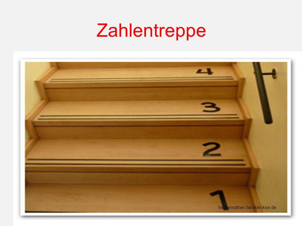 Zahlentreppe herkenrather-farbkleckse.de