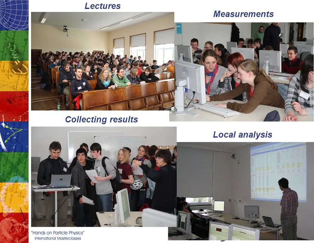 Lectures Measurements Collecting results Local analysis