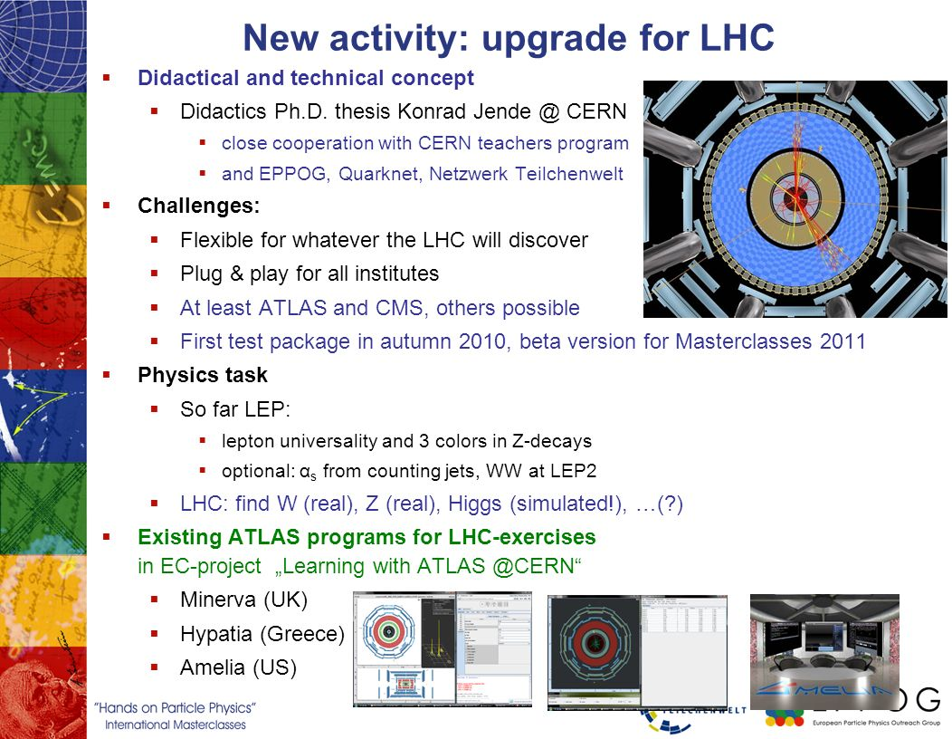 New activity: upgrade for LHC