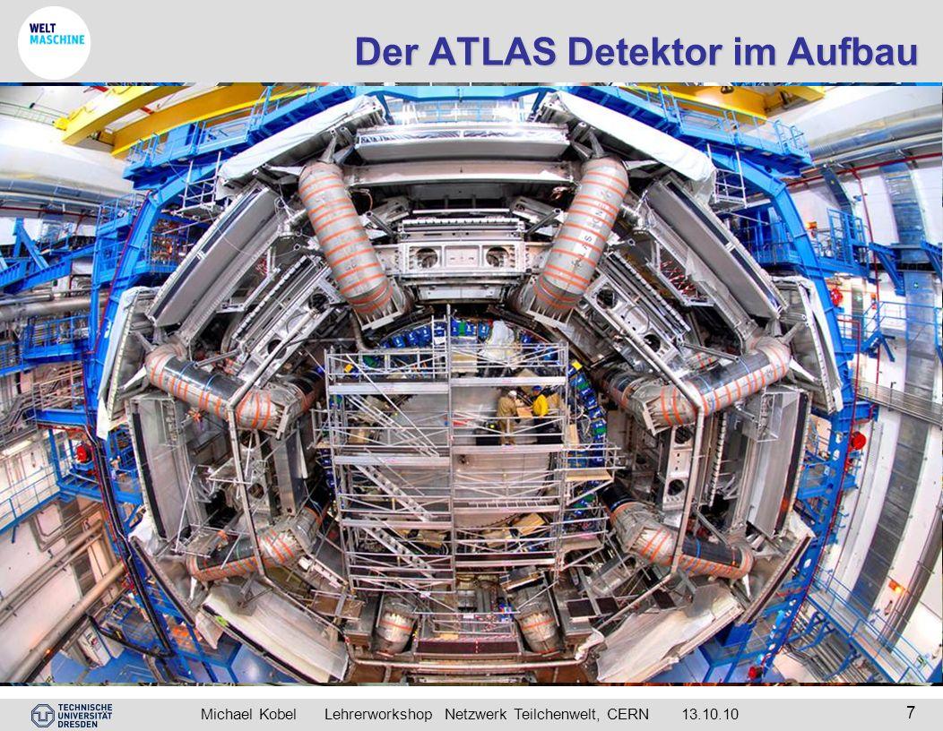 Der ATLAS Detektor im Aufbau