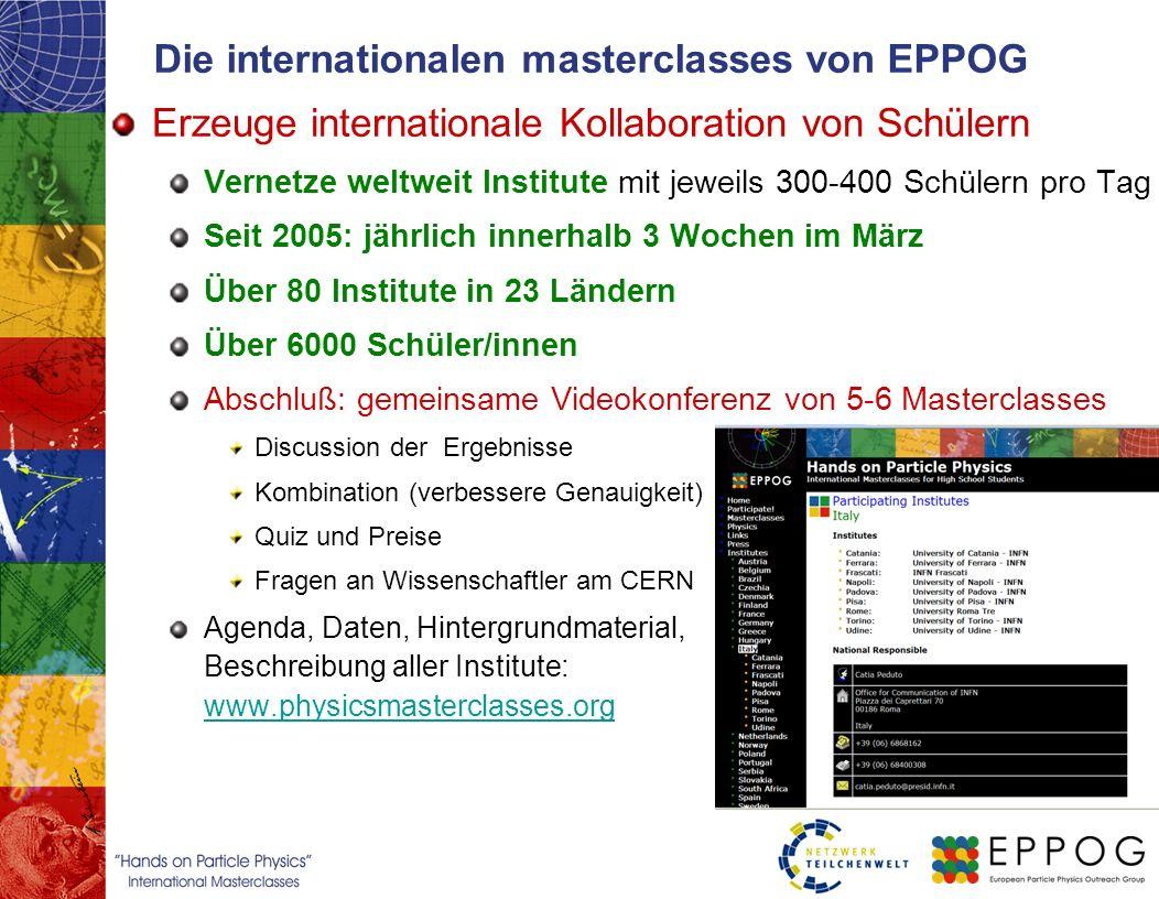 Die internationalen masterclasses von EPPOG