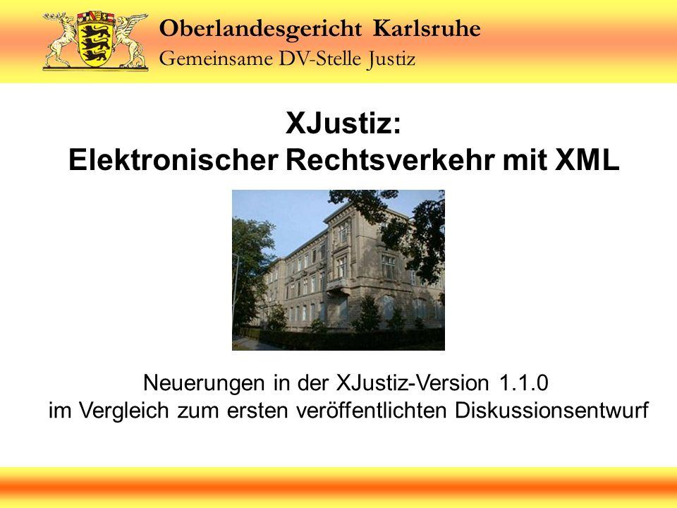 XJustiz: Elektronischer Rechtsverkehr mit XML