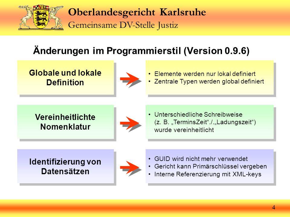 Änderungen im Programmierstil (Version 0.9.6)